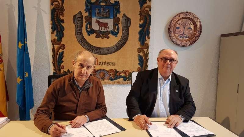 Firma del conveni. EPDA