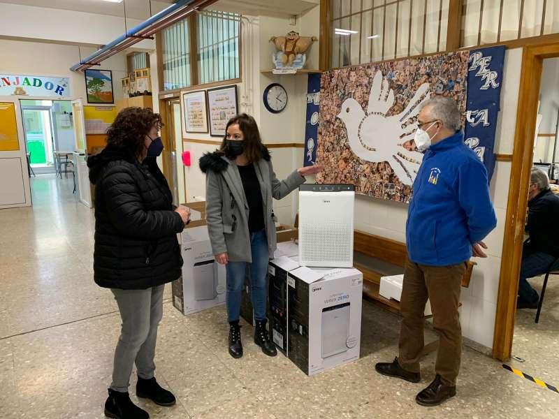 Purificadores de aire para el colegio Sant Miquel. / EPDA