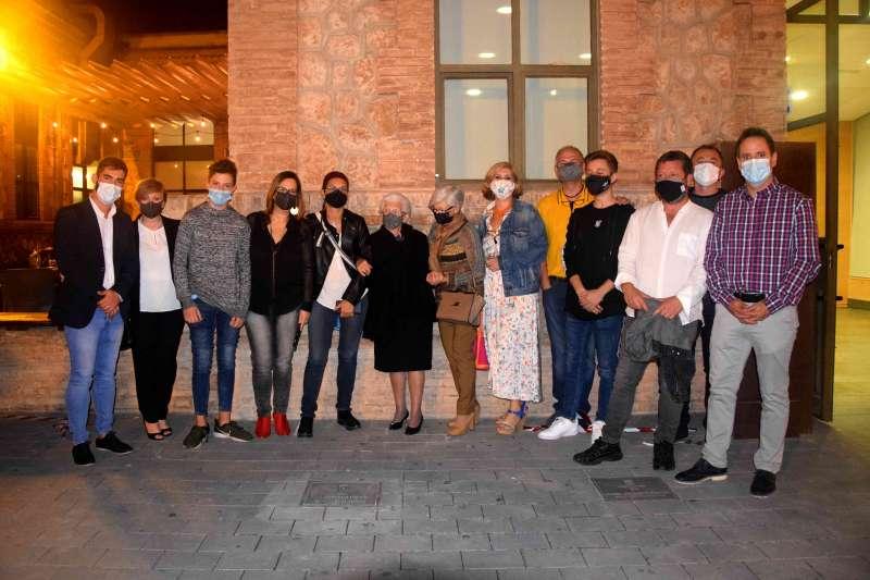 Participantes en la entrega de premios en Foios. EPDA
