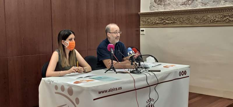 Reuda de prensa de Alzira./EPDA