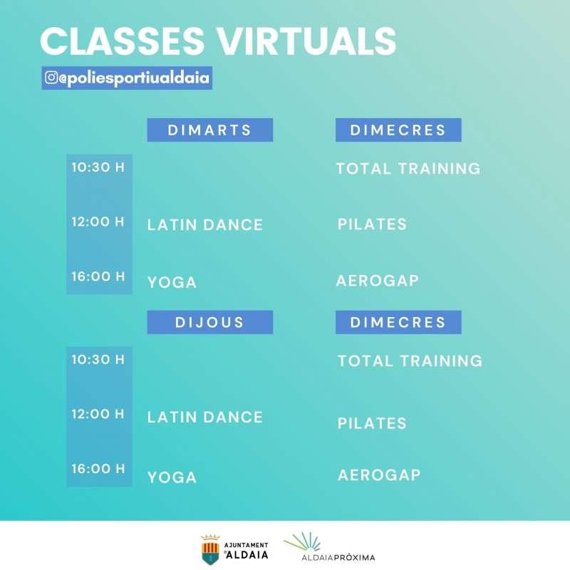 Horari de les classes virtuals