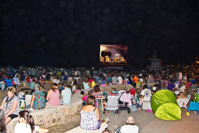 Cine de verano en Puçol. FOTO: DIVAL