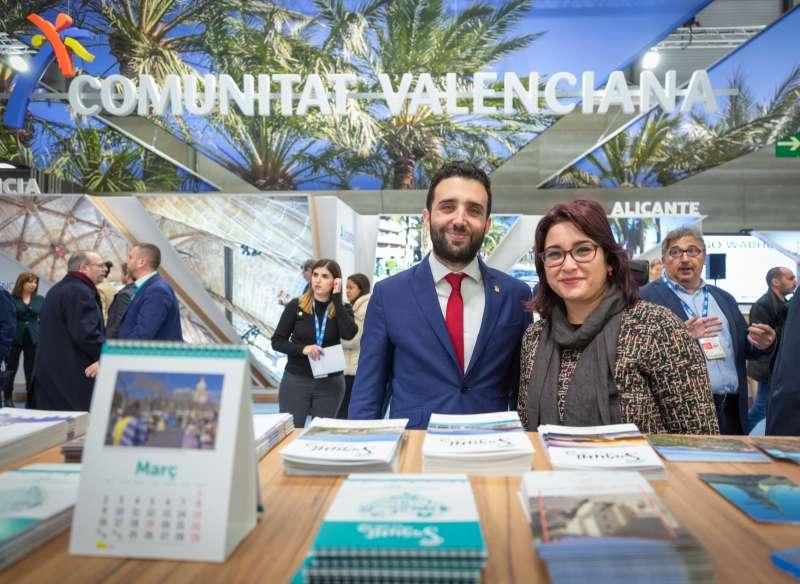 Darío Moreno, alcalde de Sagunt, y Natalia Antonino, concejala de Turismo. EPDA
