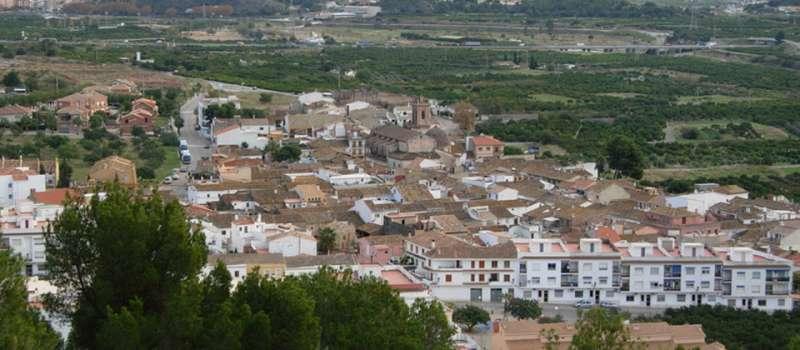 Vista aérea de Petrés.