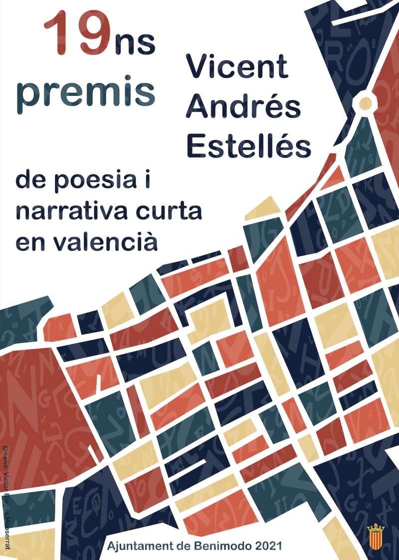 Cartell Premis Literaris de Poesia i Narrativa Curta en Valencià de Benimodo./EPDA