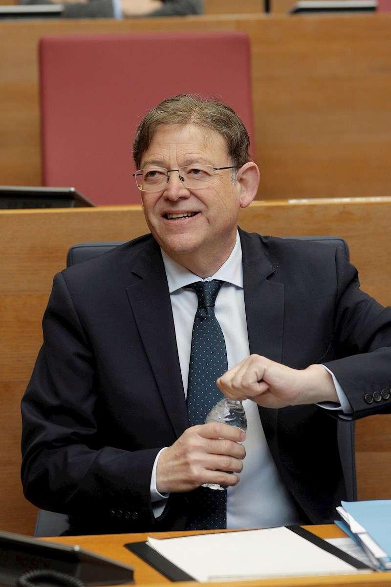 El president de la Generalitat, Ximo Puig, durante el pleno de Les Corts. EFE
