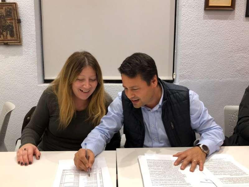 Reme Pellicer y Javier Montero del PP de Picanya.- EPDA