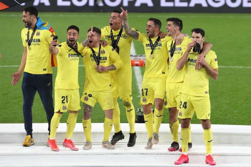 El Villarreal completó 58 partidos esta temporada con el título de la Liga Europa.EFE/Kiko Huesca.