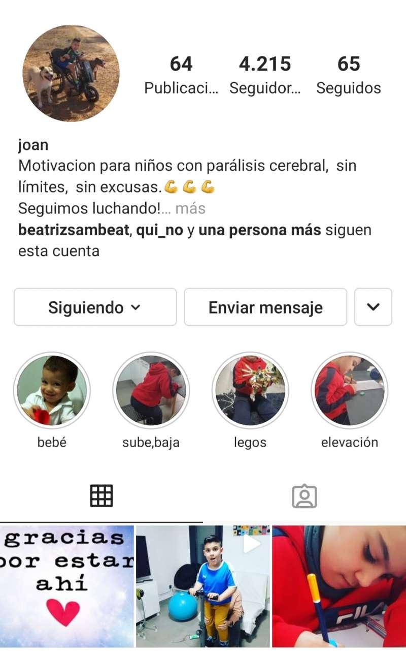 La cuenta de Instagram de Joan. EPDA