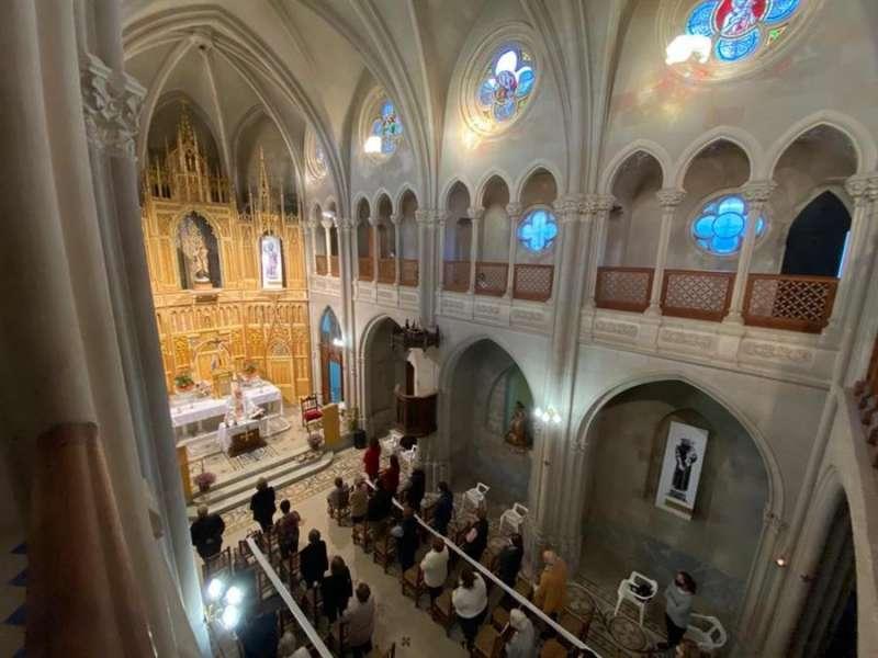 Imagen de la Iglesia neogótica reabierta tras más de 50 años. AVAN