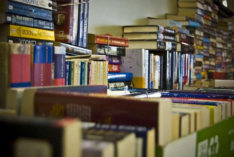 Libros ordenados en el mostrador. EPDA.