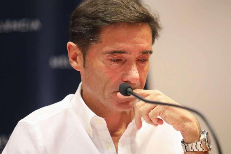 El técnico asturiano Marcelino García Toral, en su despedida. EFE/Ana Escobar/Archivo