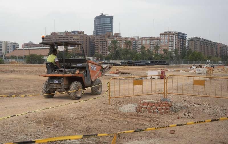 Obras en el Cami Fondo del Grau. EPDA