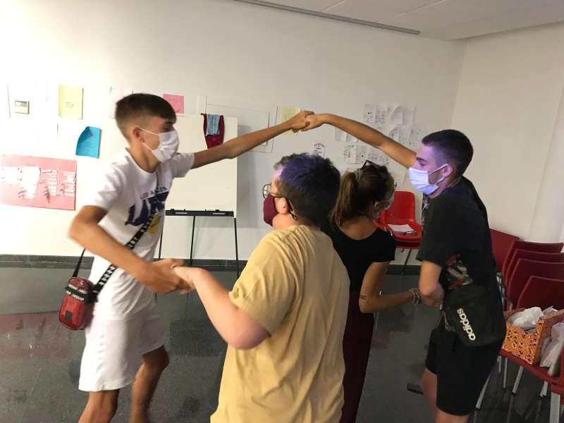 Participantes en el taller en Foios. EPDA