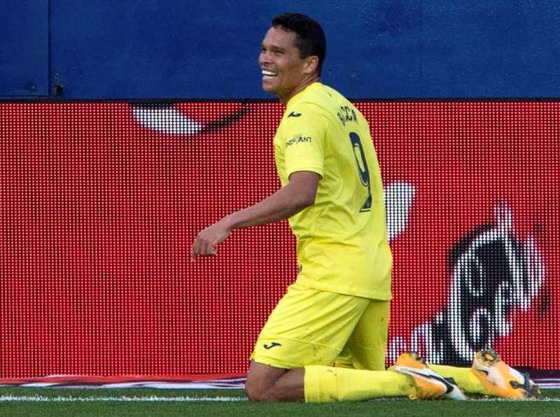 Imagen del delantero colombiano Carlos Bacca con la camiseta del Villarreal