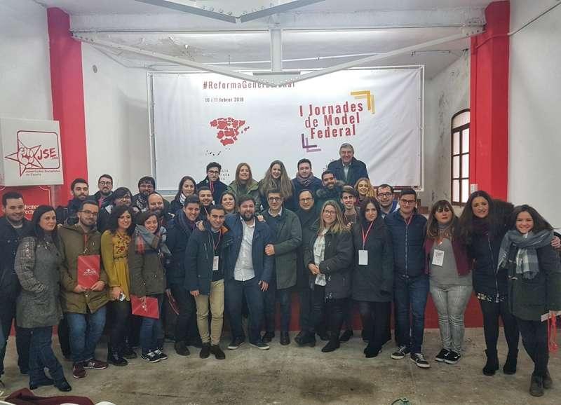 Joves Socialistes con Patxi López. FOTO EPDA
