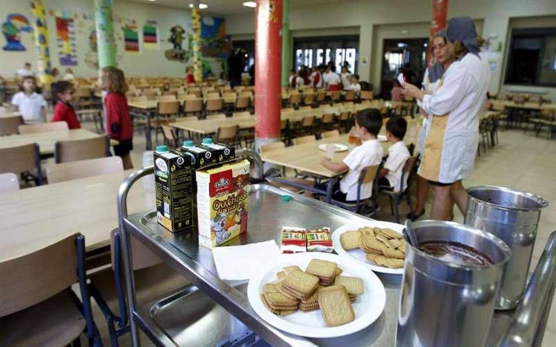 Un comedor escolar, en una imagen de archivo. EPDA