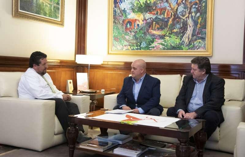 Moliner, Ventura y Rubio en la reunión