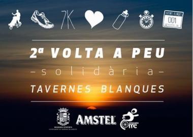 Cartel de la carrera solidaria en Tavernes Blanques.