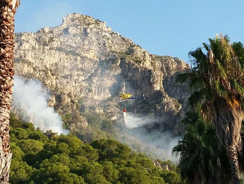 Incendi a la Muntanya de les Tres Creus de Tavernes
