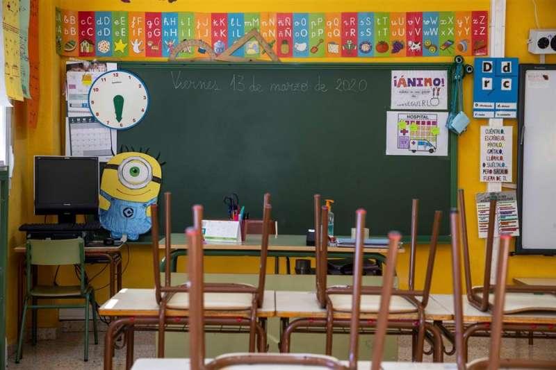 Un aula de un colegio. Archivo/EFE
