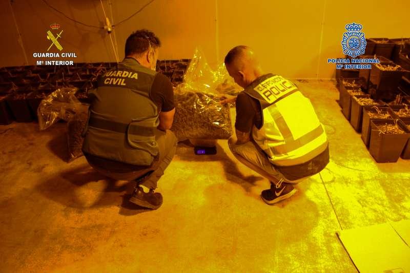 Momento operación de la Guardia Civil