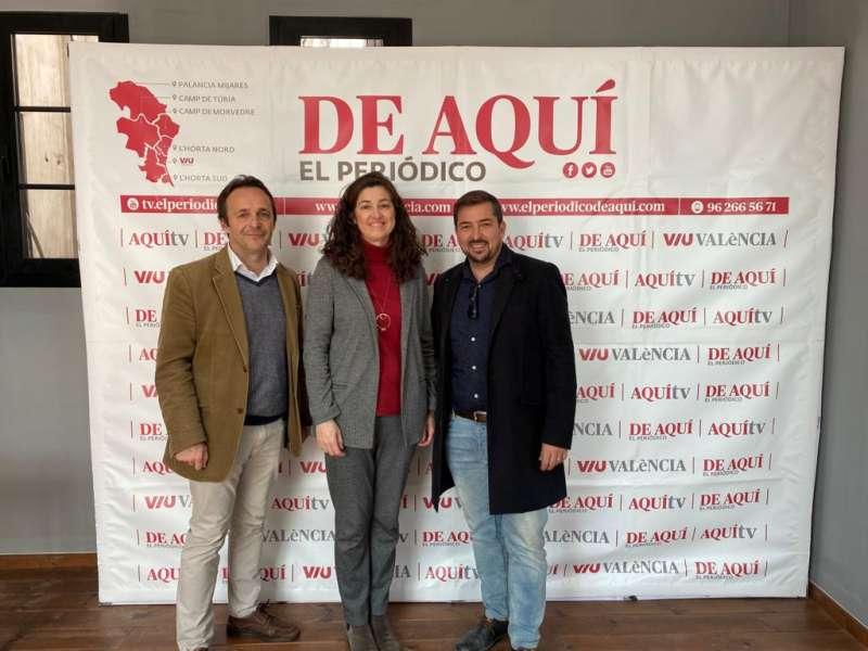 Héctor González, Alicia Torres y Pere Valenciano. EPDA
