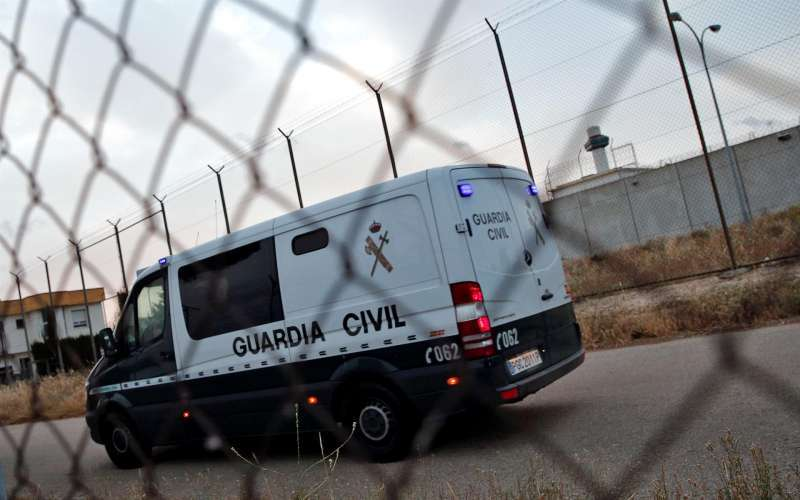 Imagen de archivo de un furgón de la Guardia Civil en el traslado de presos.