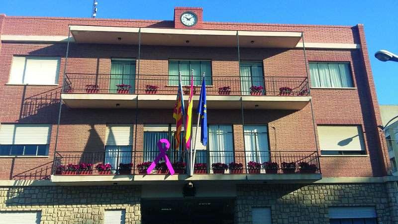 El balcón de la Casa Consistorial de Almussafes