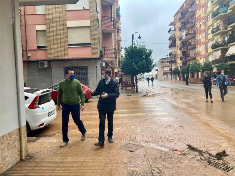 Visita del presidente provincial del PP de Valencia, Vicente Mompó
