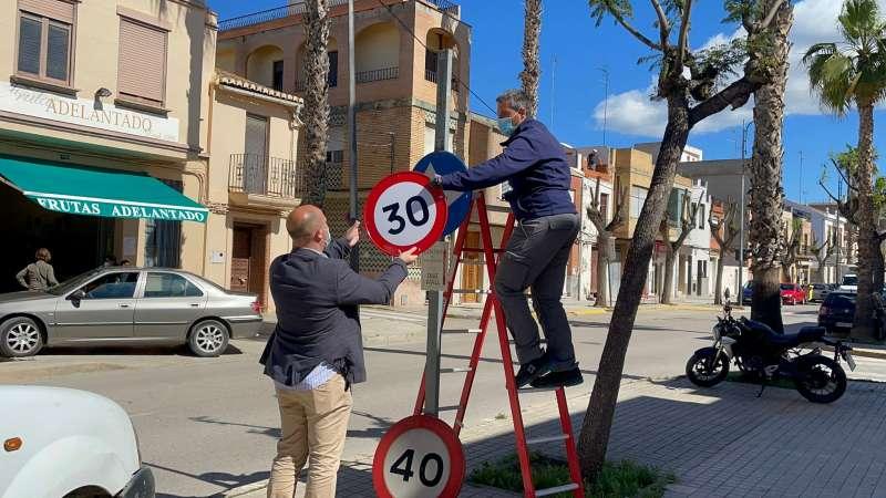 Cambio de las señales en Massamagrell