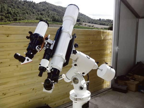 Telescopio de la instalación en el término municipal. EPDA