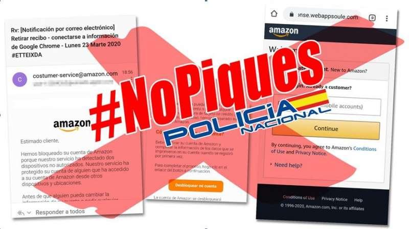 Cartel remitido por la Policía Nacional.