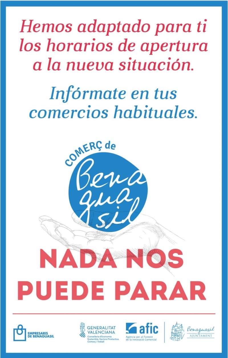 Cartel de comercio de Benaguasil. / EPDA