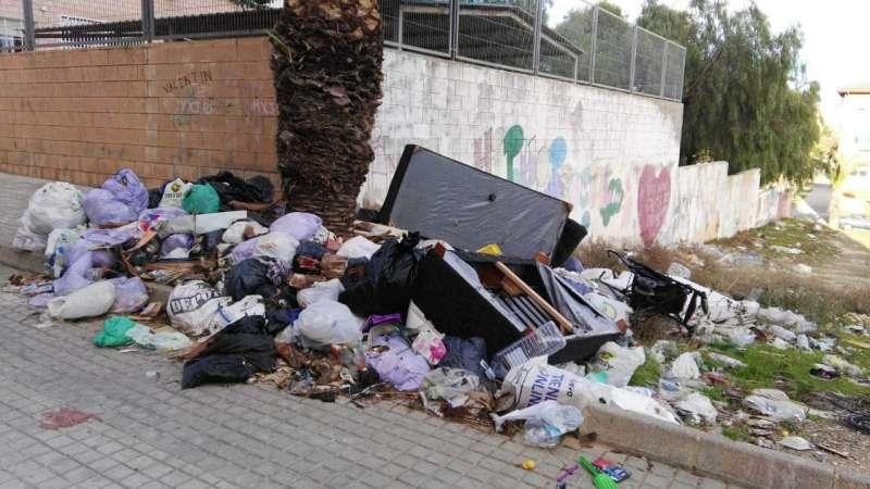 Imagen de la situación alertada por Comrpomís.