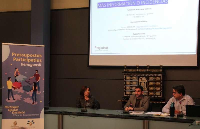 Acto de presentación de los presupuestos participativos. / EPDA
