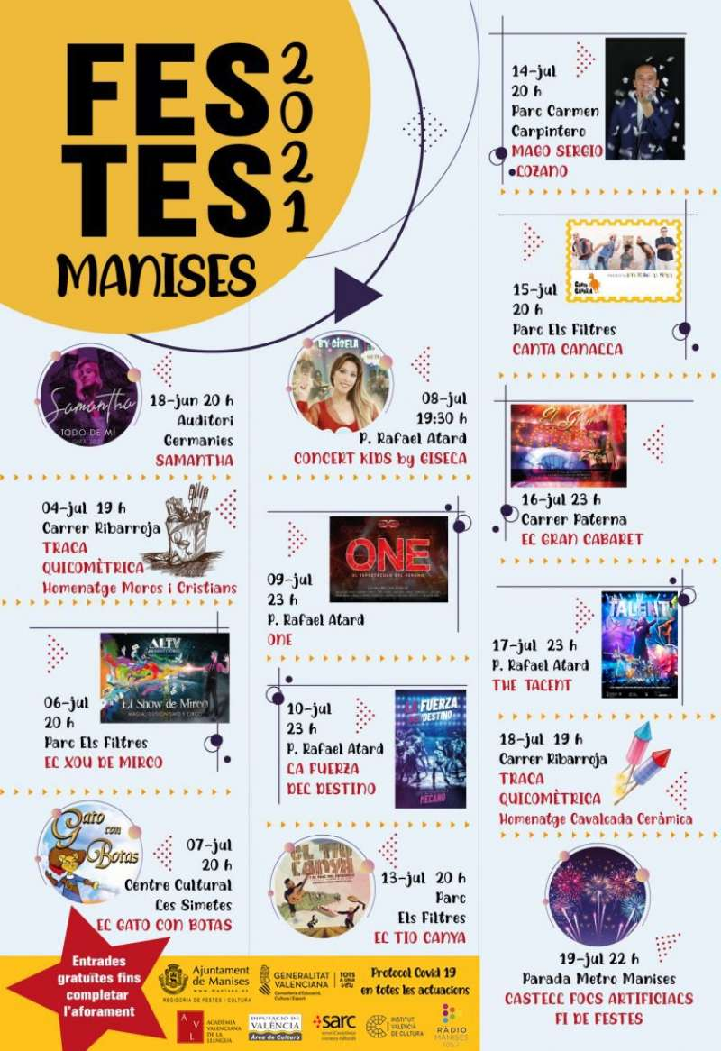 Cartel de las fiestas de Manises 2021.