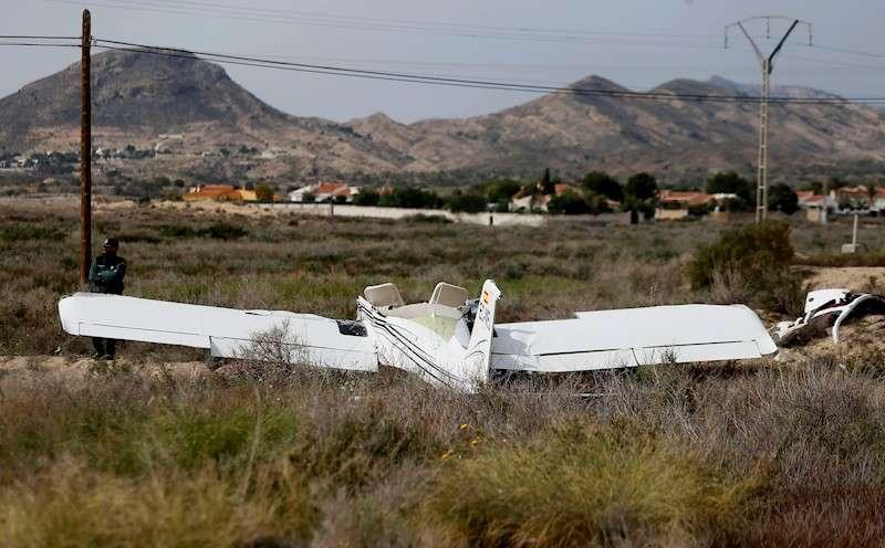 Imagen de archivo del accidente un ultraligero. EFE/manuel Lorenzo/Archivo