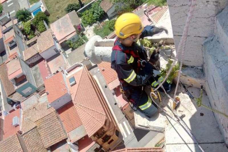 Trabajando a 60 metros de altura