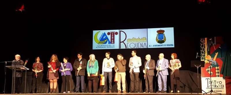 Entrega de trofeos de la XIV edición del Certamen Internacional de Teatro Breve