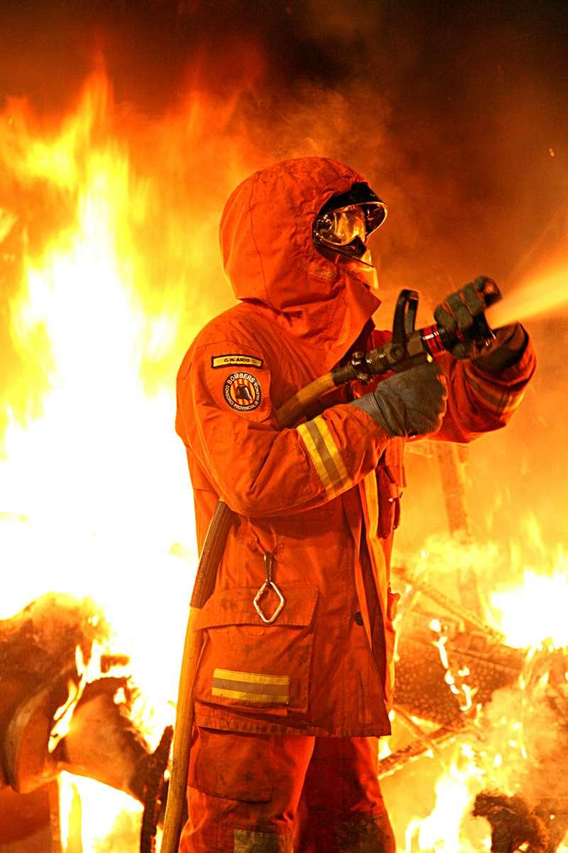 Un bombero del Consorcio Provincial de Bomberos de València. EPDA