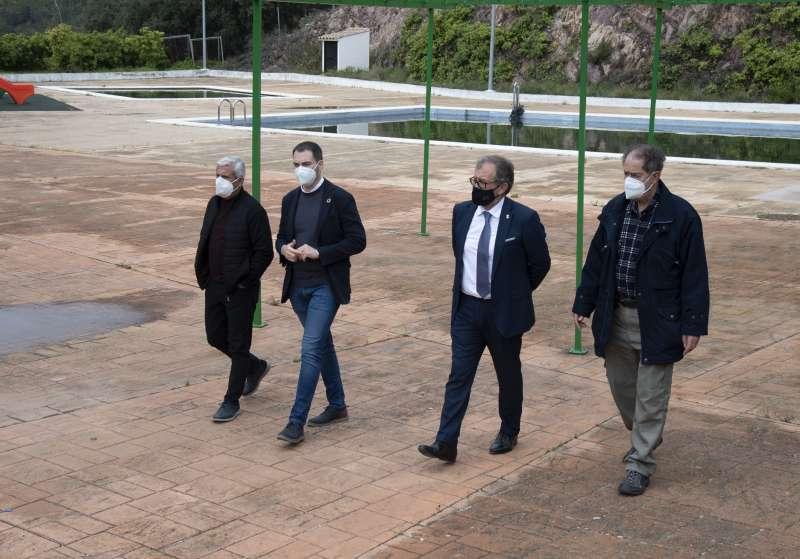 En Villamalur con el alcalde Juan Bta. Gimeno