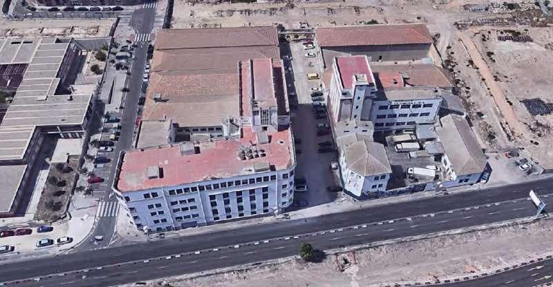 Vista aérea de las harineras Bufort y Cloquell/EPDA