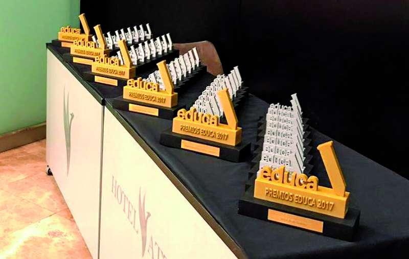 Galardones de la edición de 2017 de los premios educativos. / epda
