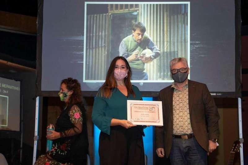 Foto cedida por el Ayuntamiento de Cullera de la gala de clausura de la muestra de teatro