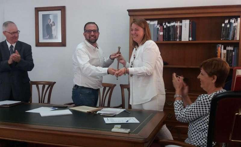 Francisca Llopis tomando posesión de su cargo