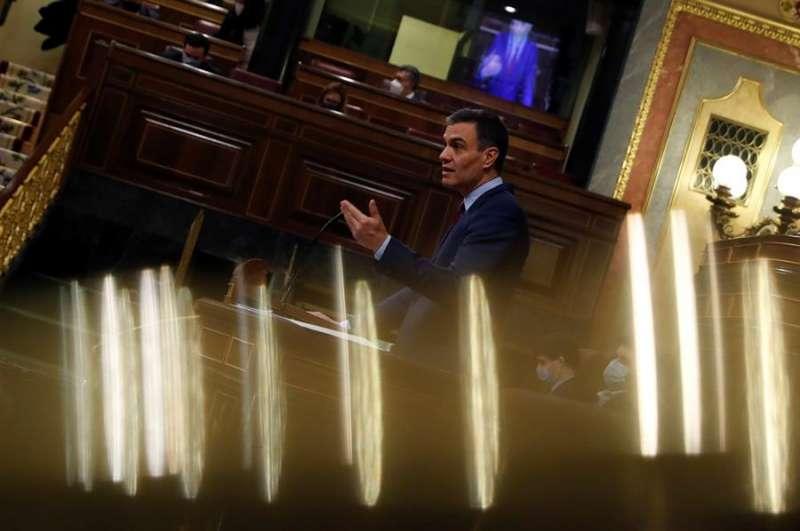 El presidente del Gobierno, Pedro Sánchez, comparece ante el Congreso de los Diputados