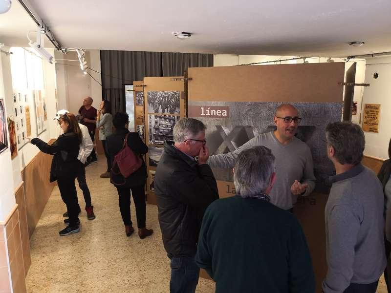 Dos exposiciones ocupan el Teleclub. Foto. L. Rosalén