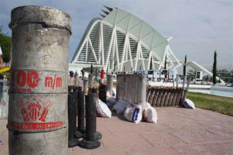 Instalaciones de la empresa Ricasa (Ricardo Caballer) en Olocau (Valencia), en una imagen cedida por la pirotecnia