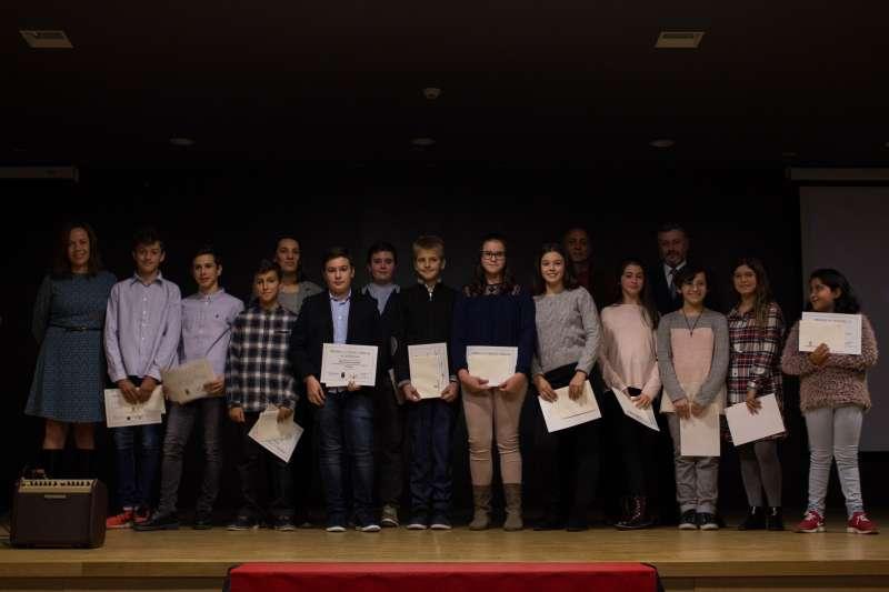 Alumnado de Primaria premiado. / EPDA